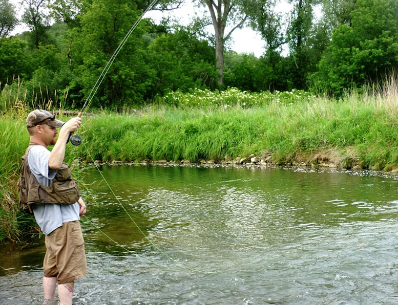 fishing-on-stream-edge